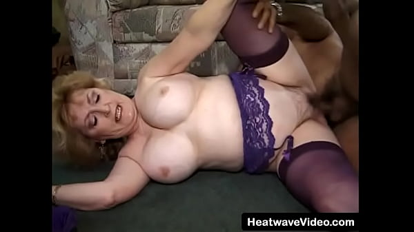 Old lady is fucked hard in mouth and ass