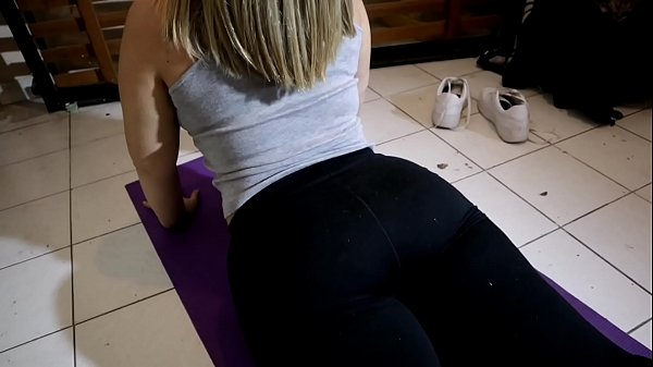 I went to see a yoga class just to creampie my ...