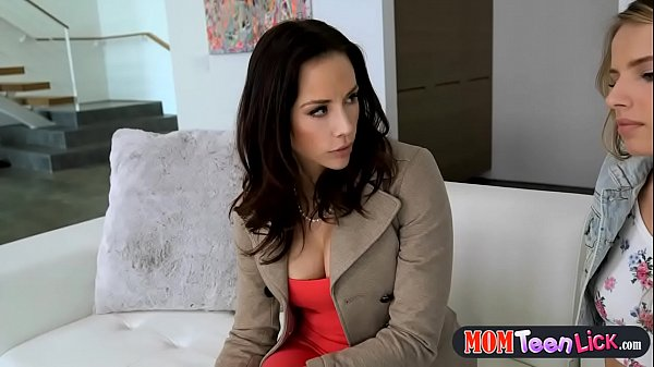 Stepmom upset at her husband comforted by a tig...