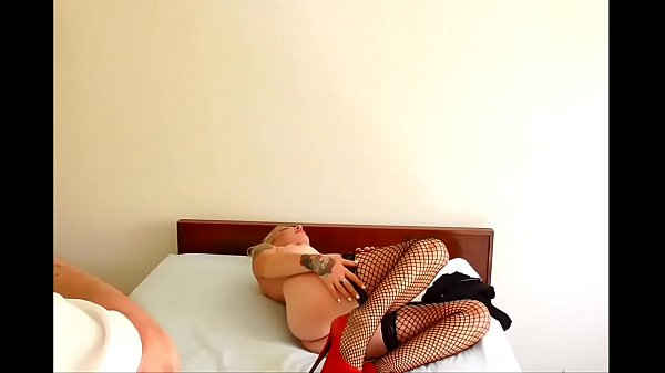 Behind The Scene of sexy Tiina's shoot as she strips off her clothes and shows us her pussy and plays on the bed. HD!