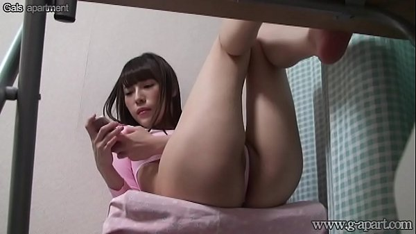 Japanese Girl Pink Laotard from Under Desk Thumb