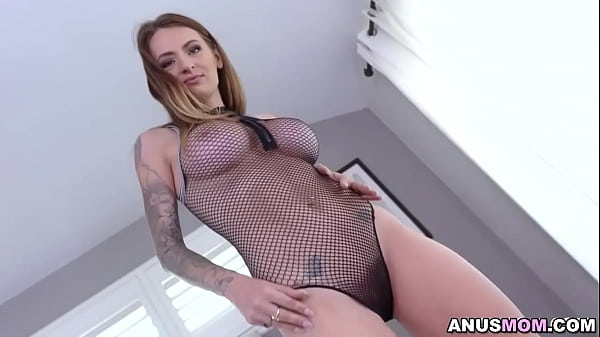 Danny Mountain oiled up Natasha Starr's ass and pussy getting her ready for a fuck fest
