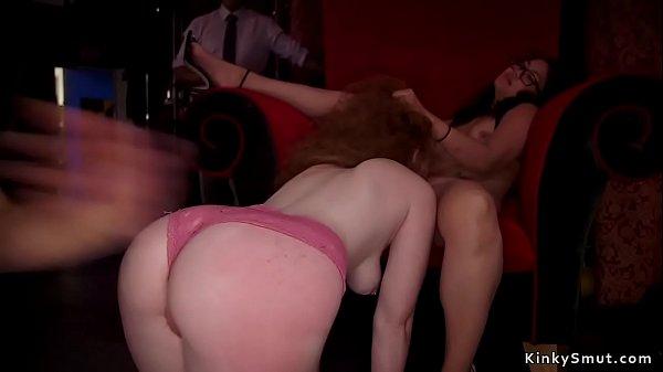 Hot sluts are fucking at bdsm orgy