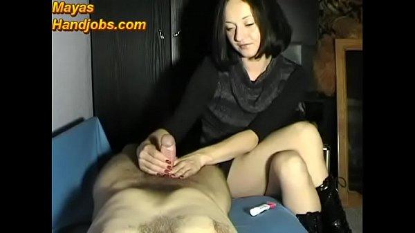 Maya femdom handjob