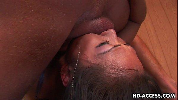 Asian slag Nyomi Zen endures being face fucked hard