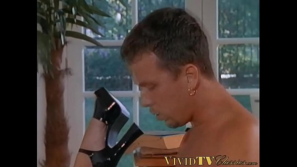 Busty retro blonde Brittany Andrews spreads legs for dick