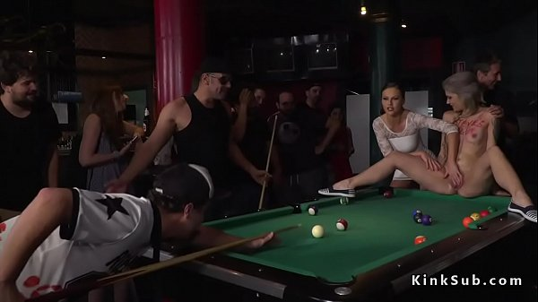 Hot blonde humiliated in public pool bar Thumb