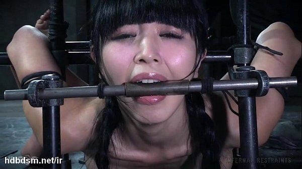 Master's vigorous punishment left cute Asian sl...