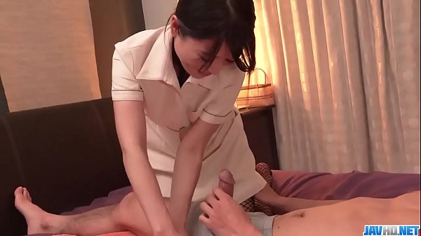 Nana Nakamura gives massage and receives cock i...