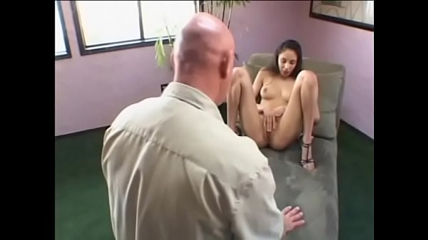 A skinny hot latin chick Alexis Love spreads for a balding pervert