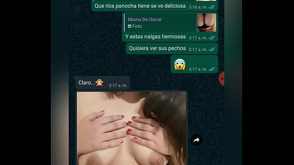 CONVERSACION CON LA MADRE DE MI AMIGO POR WHATSAPP MAS VIDEO COGIENDOMELA PART 1
