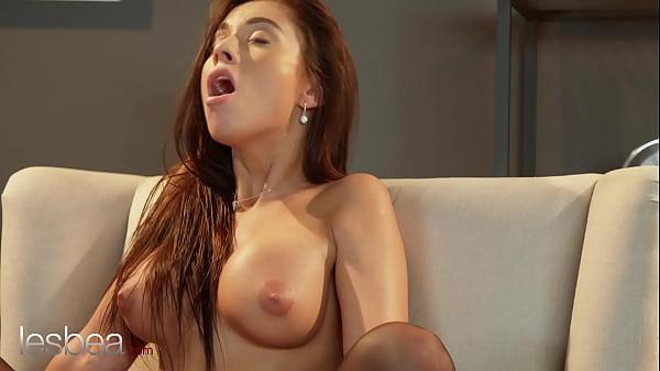Lesbea Euro babes Lady Bug and Sabrisse intimate masturbation and pussy licking