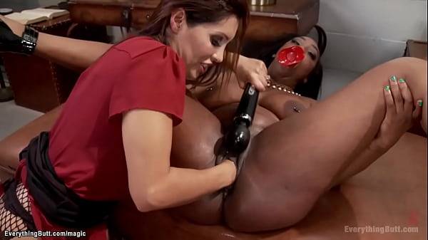 Busty ebony ass injected and fucked