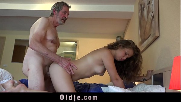 Teenie maid knows how to fuck boss old cock cum in mouth cleaning