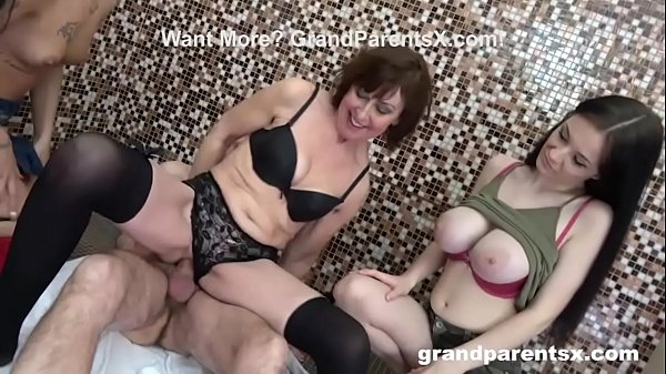 Grandpa Doesn't Know Who to Fuck First! Foursome Extravaganza