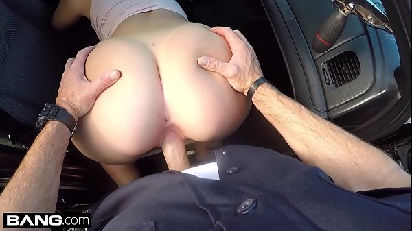 Screw The Cops - naughty thick white girl has sex in a cop car Thumb