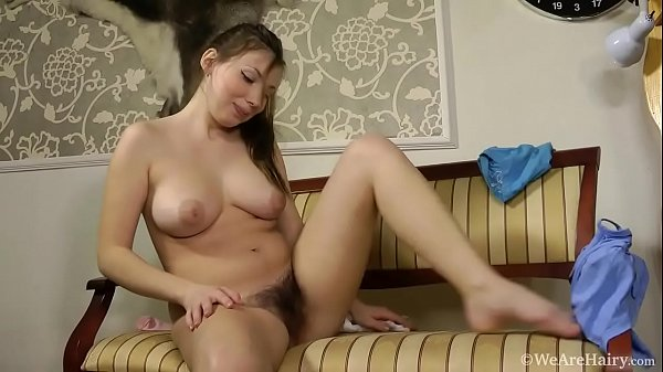Natural hairy girl Silviya showing body and masturbating