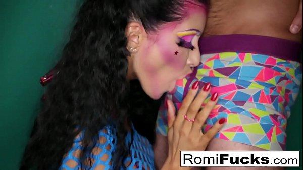 Romi sucks a fat cock