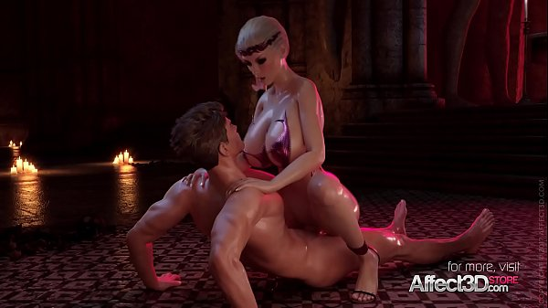 ANIMATED BLONDE CERENE TAKES HUGE COCK IN ALL H...