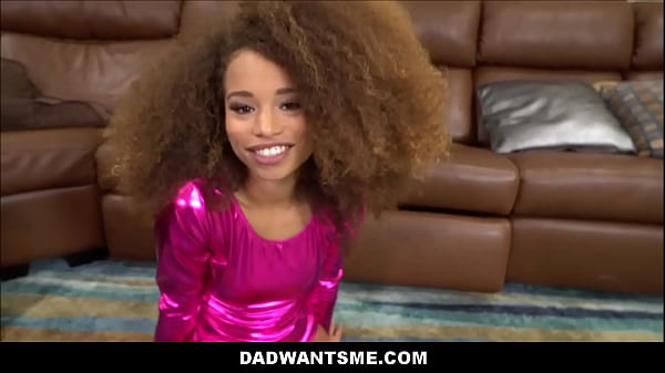 Tiny Young Black Teen Gymnast Stepdaughter Cecilia Lion Fucked By White Stepdad POV