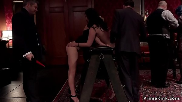 Babes spanking and fucking at party