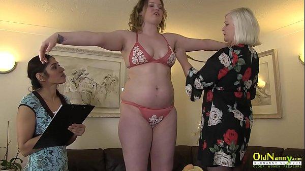 OldNannY Mature Lesbian Seduces Straght Girl