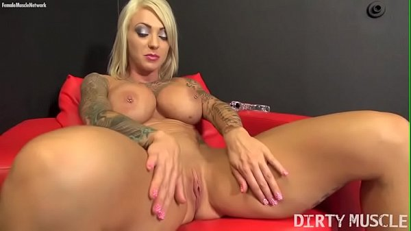 Sexy Blonde Muscle Porn Star with Big Tits