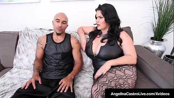 Thick Cuban Angelina Castro & King Noire Fuck Milf Sara Jay!