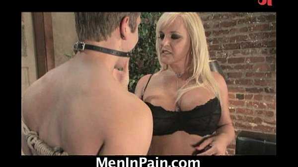 Hot blonde cougar orders a boy for delivery! Thumb