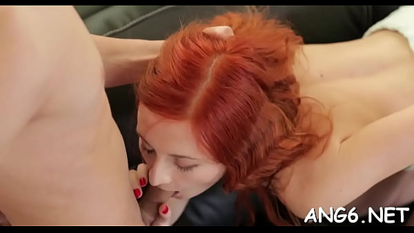 Shameless redhead princess Margo C gets off with big schlong