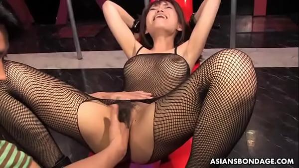 Busty Yui Shimizu got sex toys up her tight ass hole