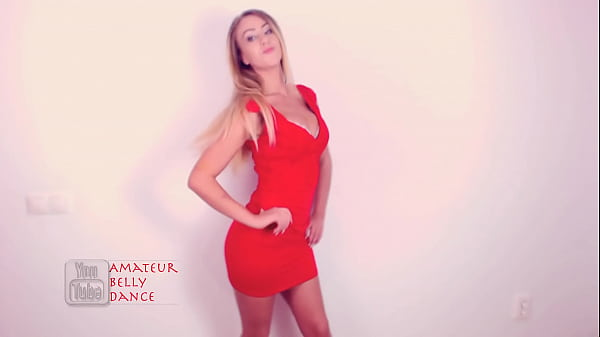 Bigger Boobs! Cam Girl First Dance After Breast Implant Enhancement Surgery in Red Dress
