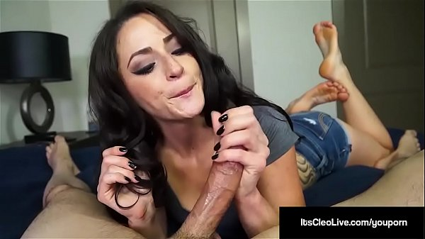 Freckled Webcam Hottie Its Cleo Milks Cum From A Hard Cock