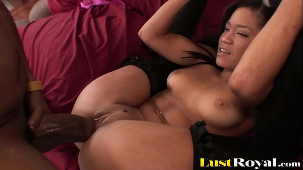 Petite Ebony Girl Can't Take A Monster Cock In Tight Pussy