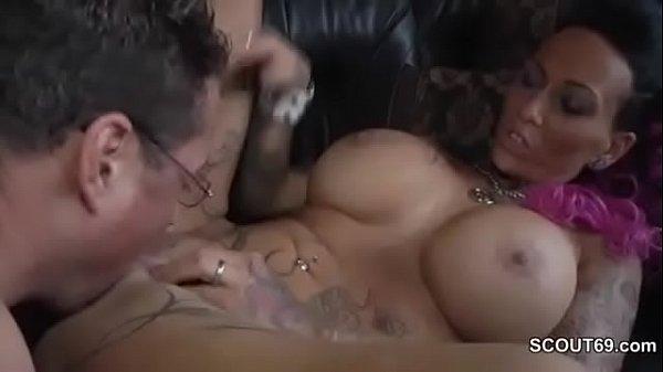 Tattoo and Big Tit MILF Seduce to Fuck by German Chef