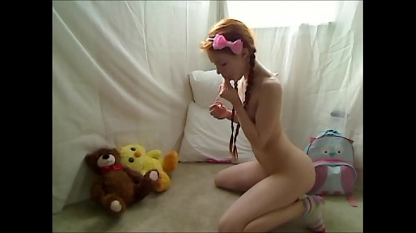 Hot Teen Redhead Dolly Little Masturbating in Footie Pajamas Thumb