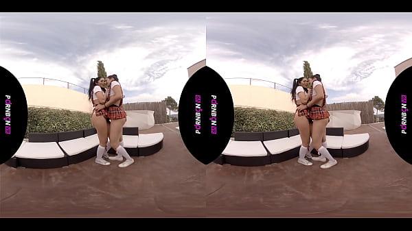 PORNBCN VR Special Julia de Lucia virtual reality fucking in POV and lesbian cosplay voyeur | FULL 4K VIDEOS ->