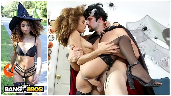 BANGBROS - Naughty Ebony Witch Cecilia Lion Gets The Perfect Treat Thumb
