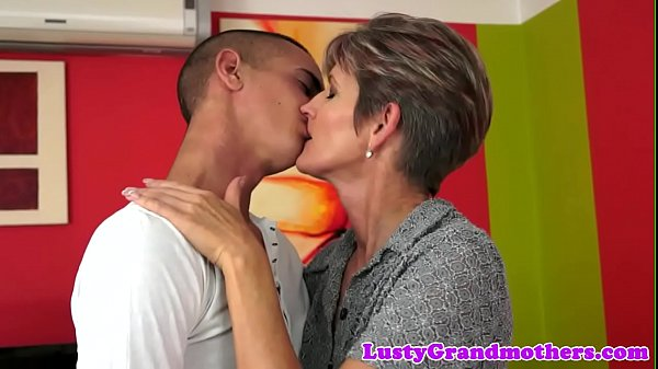 Highheels loving granny rides big cock