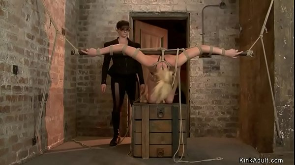 Blonde in extreme bondage gets toyed Thumb