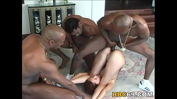 Petite Teen Saphire Interracial Anal Gangbang