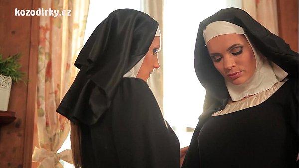 Beautiful nuns enjoying lesbian adventure