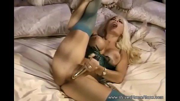 Blonde Trashy Wife Alone