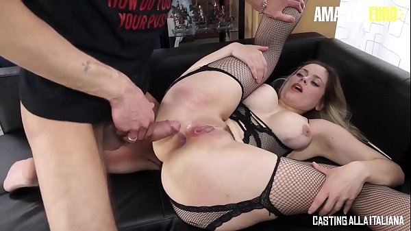 CASTING ALLA ITALIANA - #Vittoria Dolce #Luca Ferrero - Huge Cock Man Gives Anal On Casting To A Busty Sexy Ukrainian MILF