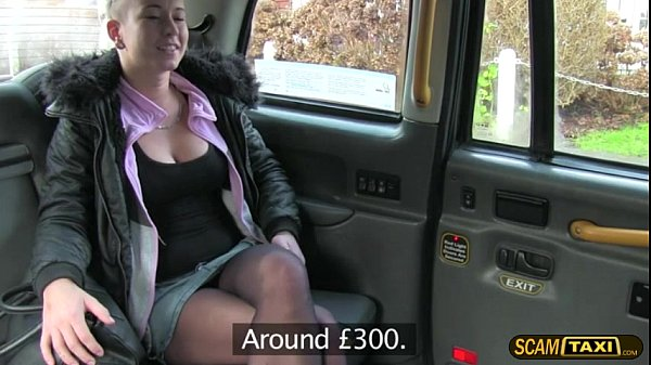 Blondie Licky jumps on a taxi and gets fucked hard by the driver