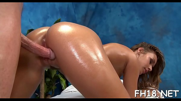 Hot 18 year old gril gets fucked hard doggy position by her massage therapist