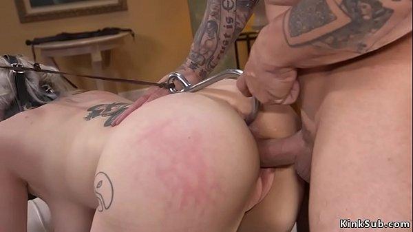 Boss fucks anal hooked secretary in bdsm