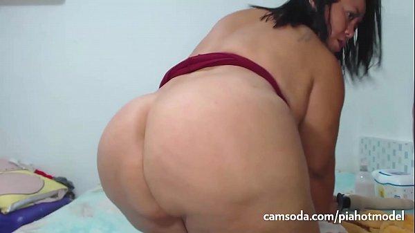 SacredBooty BBW PiaLaDelicia - Piahotmodel Big Ass Latina Shakes her Big Ass and then Fucks her Big Dildo part 1