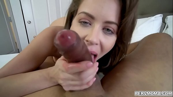 Emily Addison gets boned by her stepson before shooting a gooey load of cum in her mouth