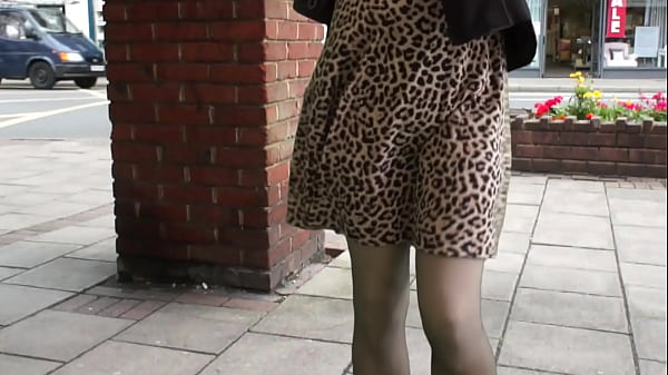 Windy day out in my stockings